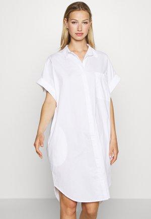WANNA DRESS - Abito a camicia - white light solid