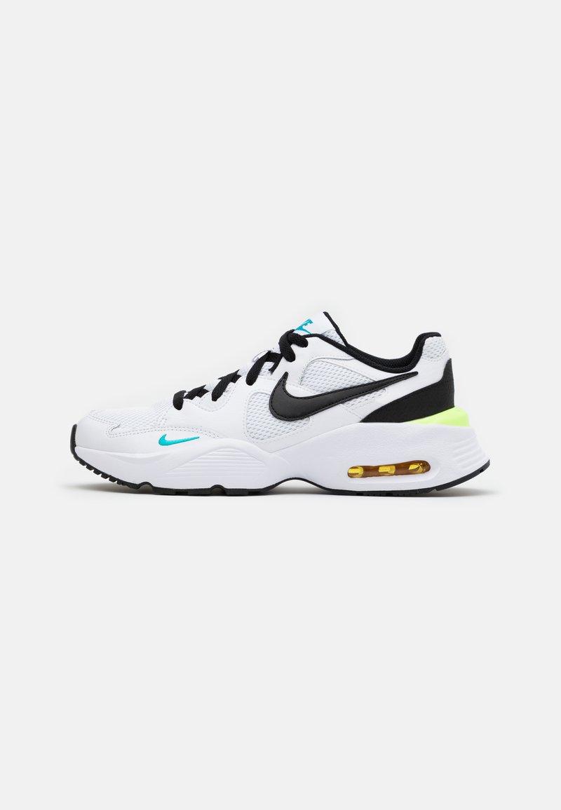 Nike Sportswear - AIR MAX FUSION  - Sneakers laag - white/black/oracle aqua/pollen rise