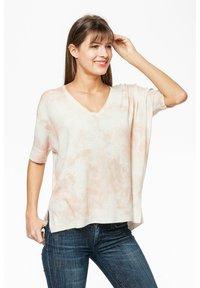 Rosa & Me - Print T-shirt - braun/weiß - 2