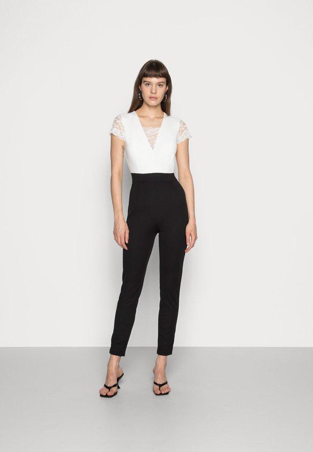 TWO TONE SLEEVE  - Tuta jumpsuit - black/white