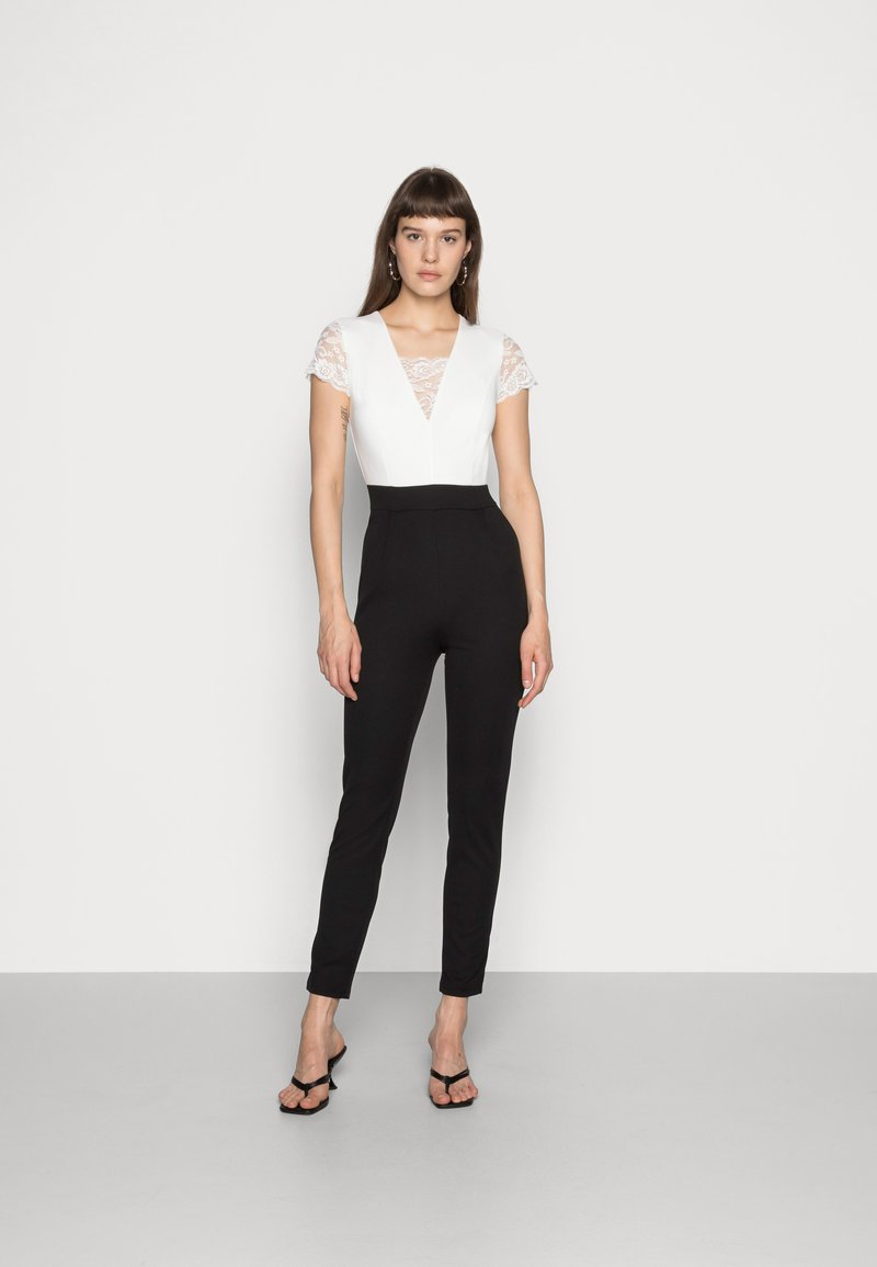 WAL G. - TWO TONE SLEEVE  - Jumpsuit - black/white