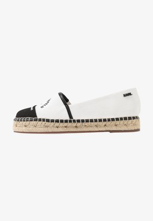 KAMINI MAISON SLIP ON - Espadryle - white/black