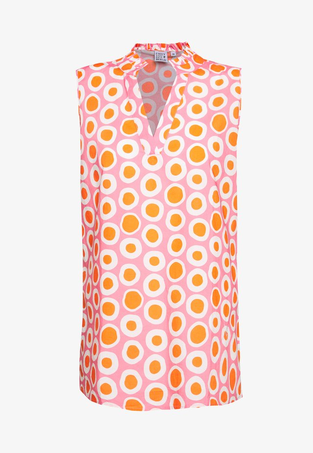 BLOUSE - Blouse - pink/orange