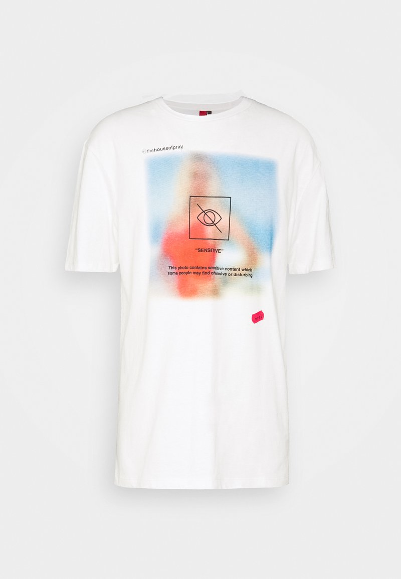 PRAY - CENSORSHIP UNISEX  - Printtipaita - white