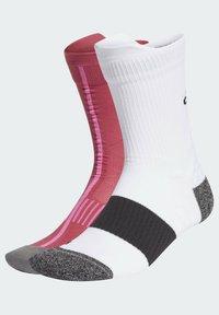 adidas Performance - RUNNING ULTRALIGHT CREW PERFORMANCE SOCKS - Sportsokken - white - 1