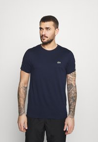 Lacoste Sport - T-shirt med print - navy blue/black - 0