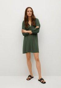 Mango - ROBE - Korte jurk - vert foncé - 1