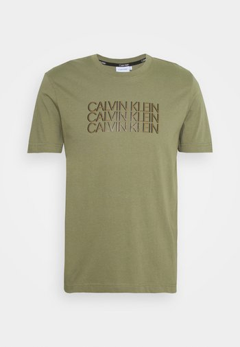 TRIPLE CENTER LOGO - Print T-shirt - green