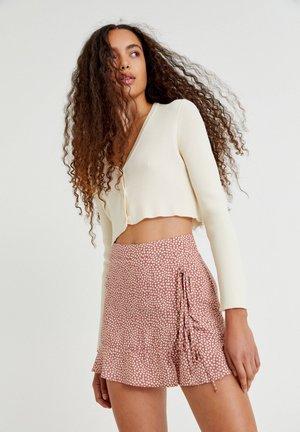 MIT BLUMENPRINT - A-line skirt - brown