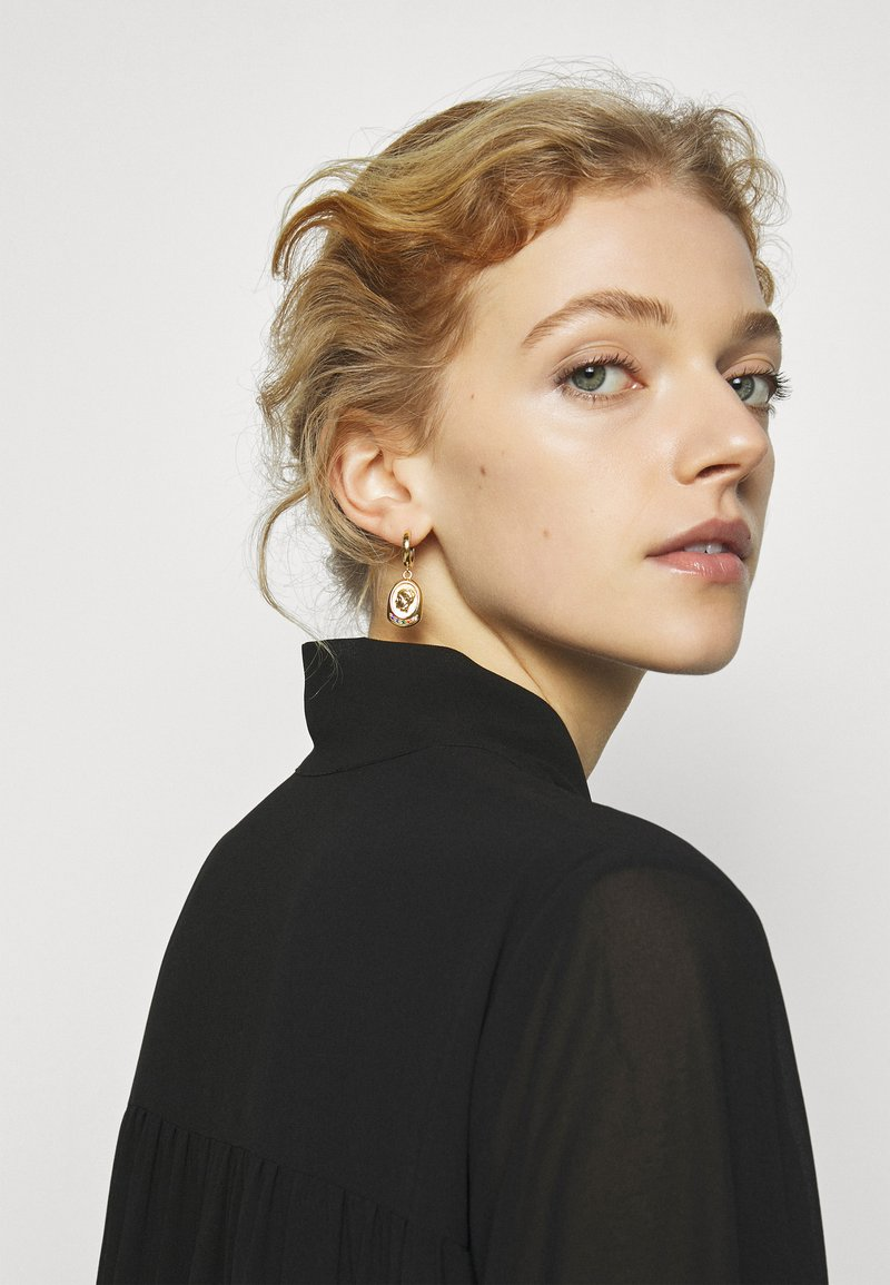 Hermina Athens - YGIEIA SLIP ON EARRINGS - Oorbellen - gold-coloured/multi
