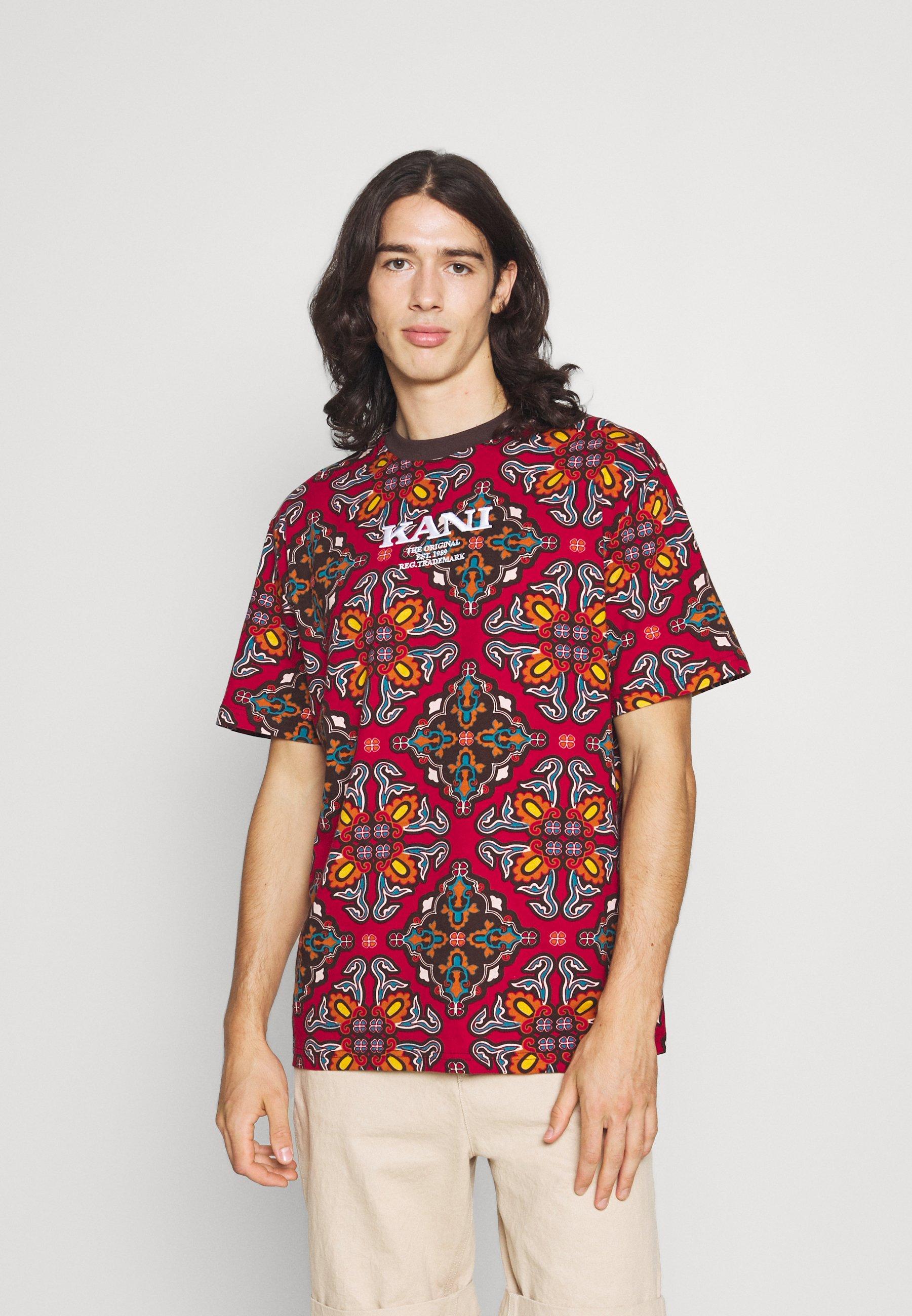 Men UNISEX RETRO ORNAMENTAL TEE  - Print T-shirt
