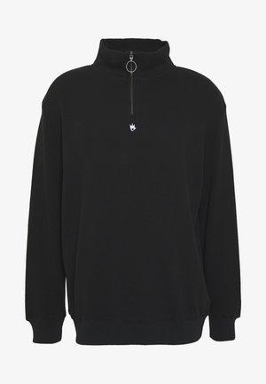 COOPER HALF ZIP CREW NECK - Sweatshirt - black