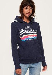 Superdry - RAINBOW SHADOW - Jersey con capucha - blue - 0