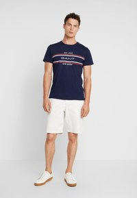 GANT - STRIPE  - Triko s potiskem - evening blue - 1