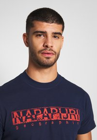 Napapijri - SOLANOS - T-Shirt print - medieval blue - 4