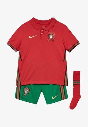 PORTUGAL HM SET - Club wear - gym red/metallic gold