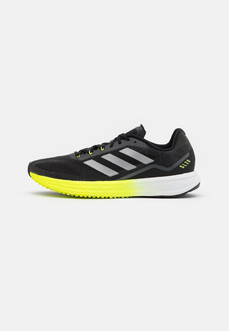 adidas Performance - Neutrala löparskor - core black/solar yellow