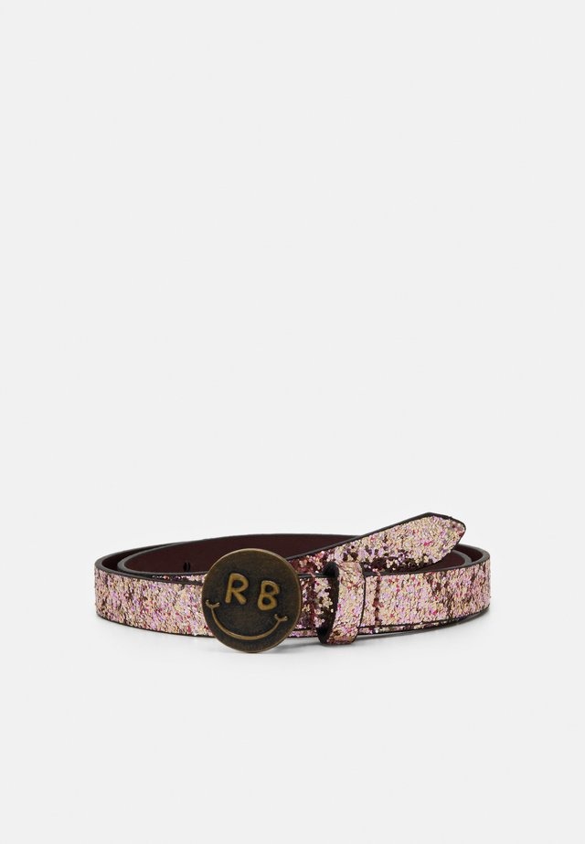 GLITTER BELT WITH BUCKLE - Pasek - blush melange