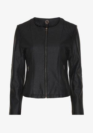 MANHATTEN - Imitatieleren jas - black