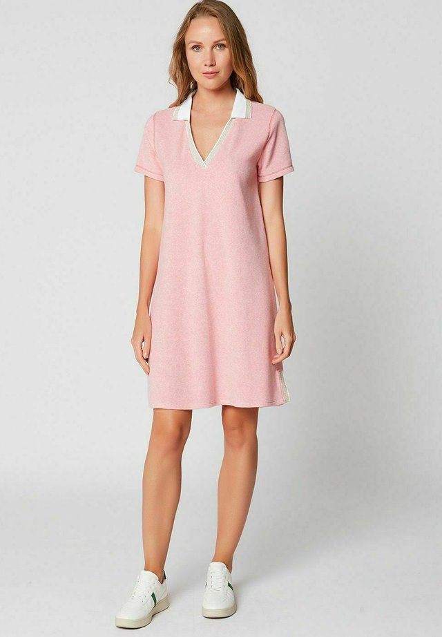 Korte jurk - rose chine