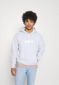 Obey Clothing - BOLD IDEALS SUSTAINABLE HOOD - Sweatshirt - ash grey - 0