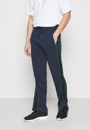 POPPERS - Tracksuit bottoms - dark navy/jade green/jet black