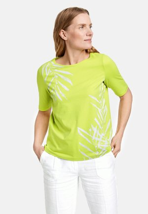 Print T-shirt - lime
