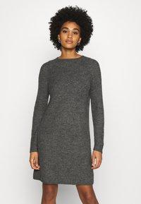 ONLY - ONYSALLIE DRESS - Jumper dress - dark grey melange - 0