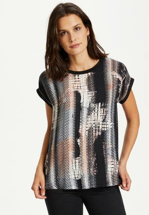 KAHLEEN - Blouse - black blue crushed print