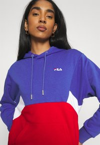 Fila - AMYA CROPPED HOODY - Sweatshirt - clematis blue/true red/bright white - 3