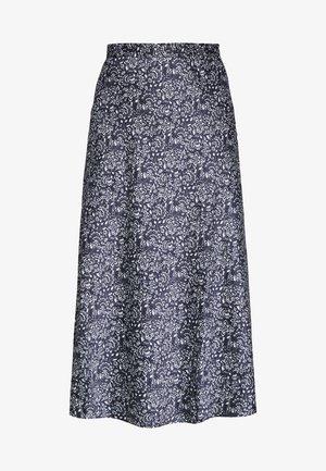 FALDA MIDI BICOLOR - Áčková sukně - blue