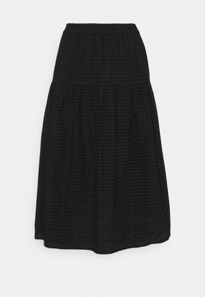 LYON SKIRT - Długa spódnica - black