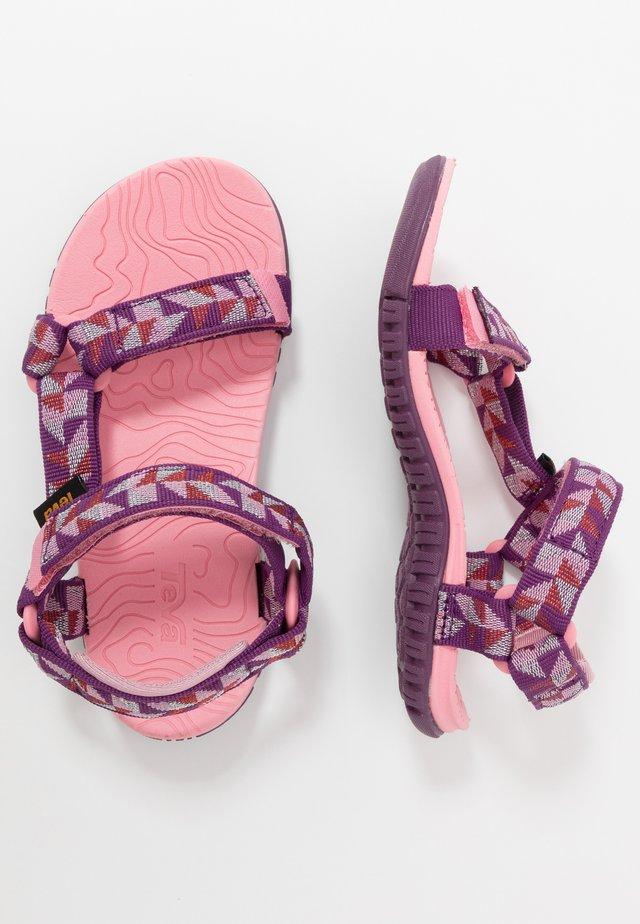 Walking sandals - ciment/metallic pink