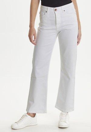Flared Jeans - white denim
