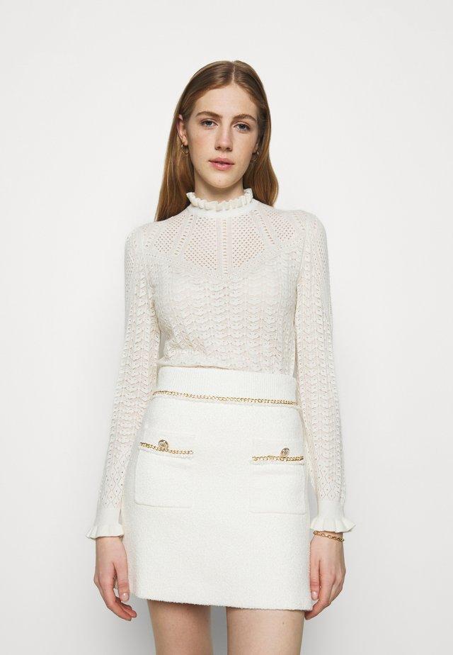 MOTIFA - Strickpullover - white