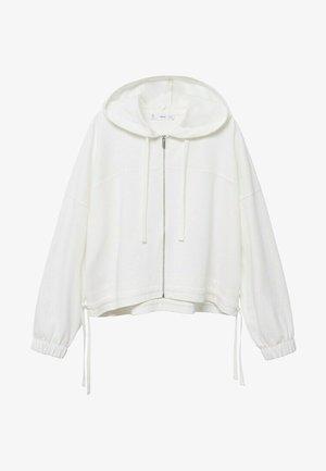 CLAY - Zip-up sweatshirt - weiß
