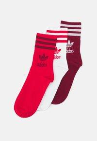 adidas Originals - 3 PACK UNISEX - Sokken - scarlet/collegiate burgundy - 0