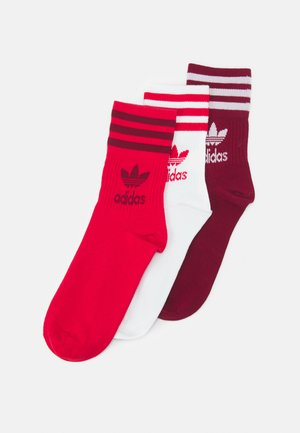 3 PACK UNISEX - Socks - scarlet/collegiate burgundy