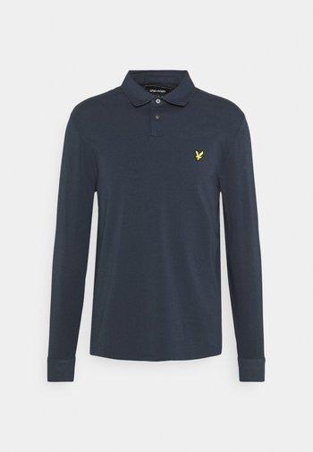 WOVEN COLLAR  - Polo shirt - dark navy