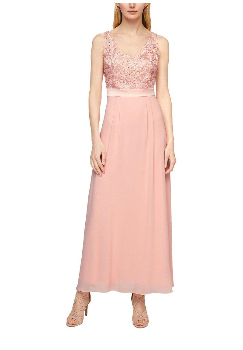 s.Oliver BLACK LABEL - GEBLOEMDE KANT - Maxi dress - spring rose