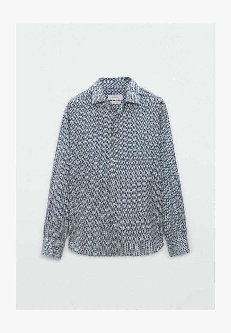Massimo Dutti - SLIMFIT - Shirt - blue