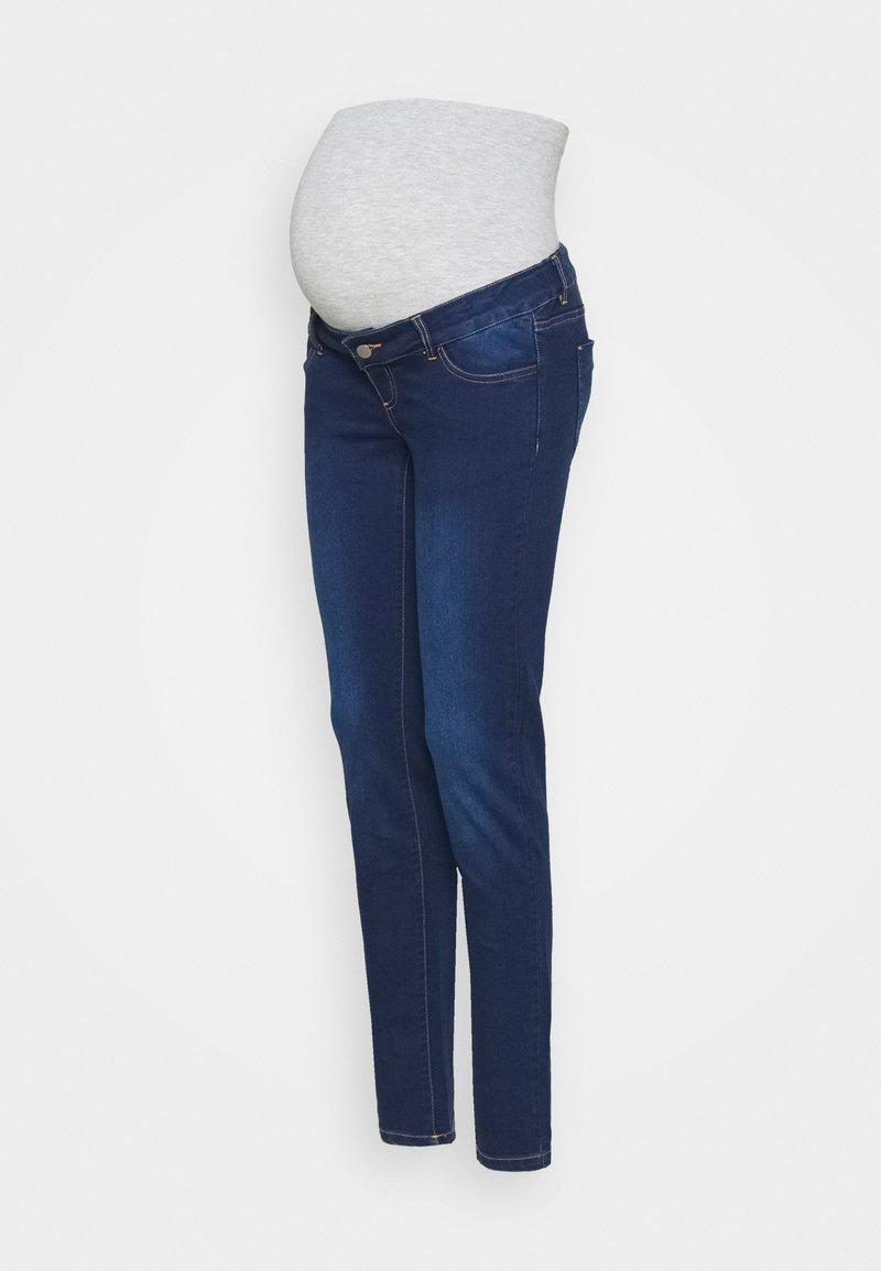 MAMALICIOUS - MLFIFTY - Jeans Skinny Fit - dark blue denim/wash