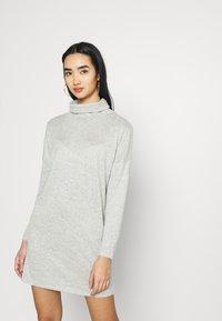 JDY - JDYSARA TONSY NECK DRESS - Jumper dress - silver birch melange - 3