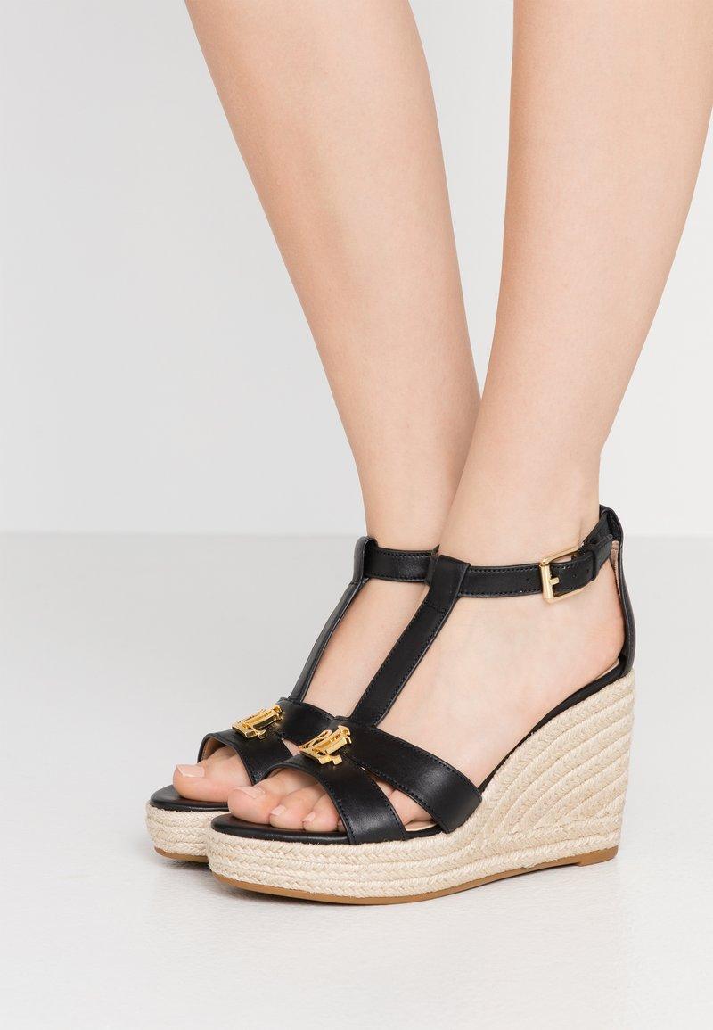 Lauren Ralph Lauren - HALE CASUAL - High heeled sandals - black