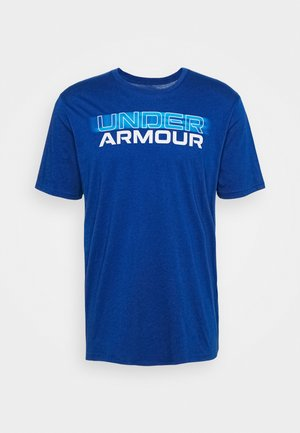 BLURRY LOGO WORDMARK  - Camiseta estampada - graphite blue/electric blue