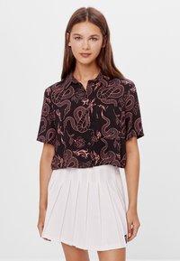 Bershka - Button-down blouse - black - 0