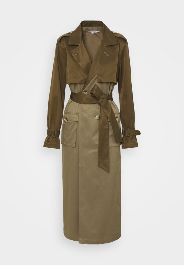 FABRIC MIX - Trenchcoat - khaki