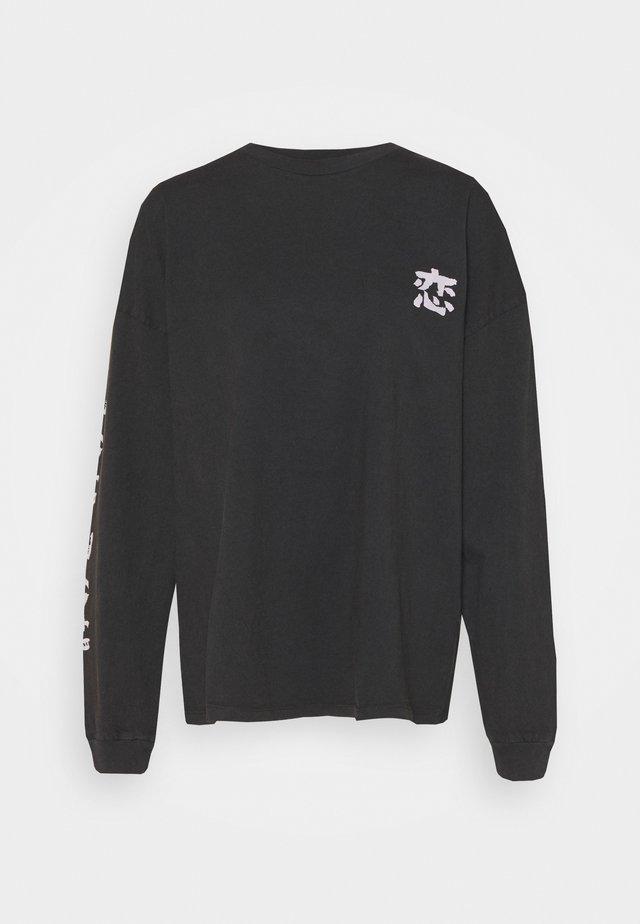 KOI FISH SKATE - Longsleeve - washed black
