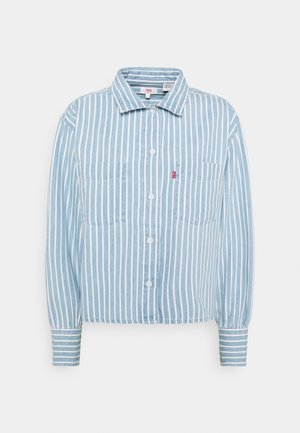 ZOEY PLEAT UTILITY - Košile - light-blue denim