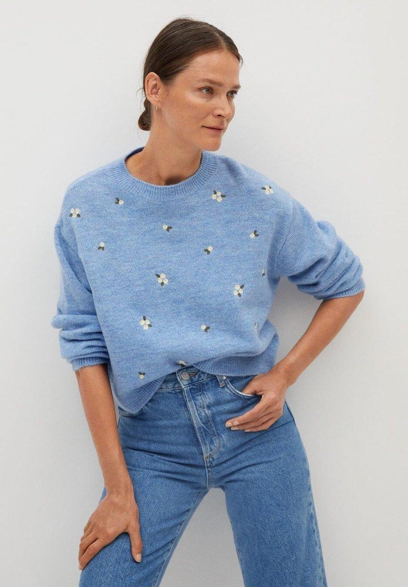 Mango - MARGARIT - Sweter - bleu ciel